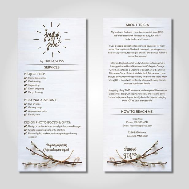 Joyful Jobs brochures