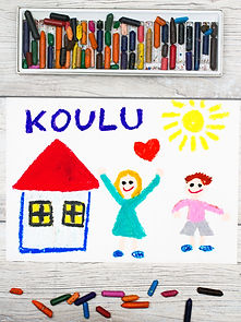 Photo of  colorful drawing: Finnish word