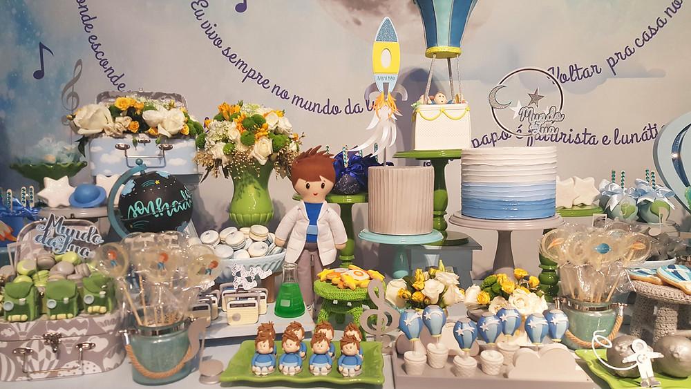 Decoração Festa Balão Azul