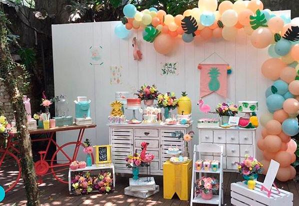 Festa Abacaxi Flamingos