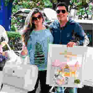 Mirela Santos com Mala de Maternidade Masterbag