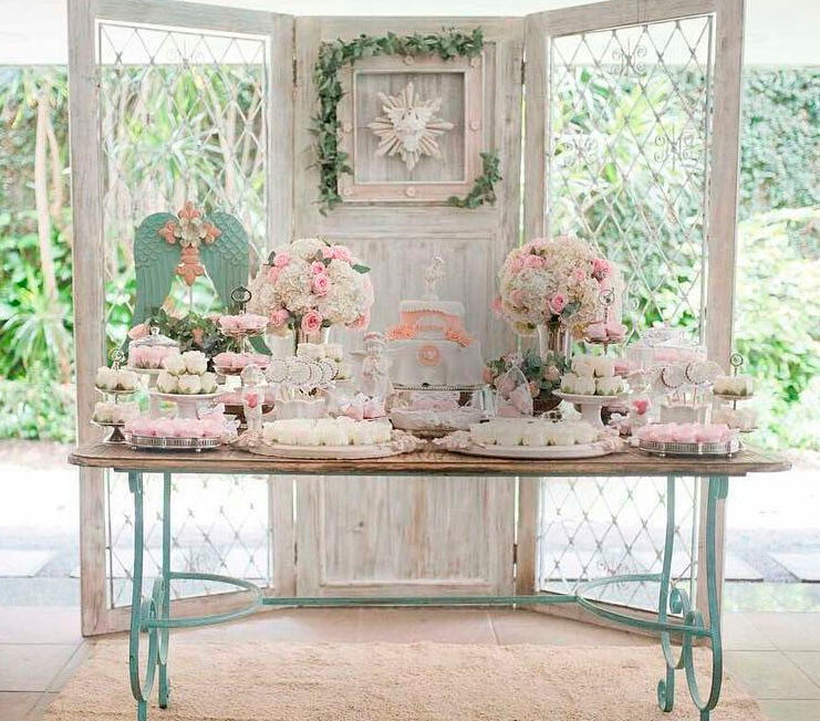 Mesa Batizado Rose