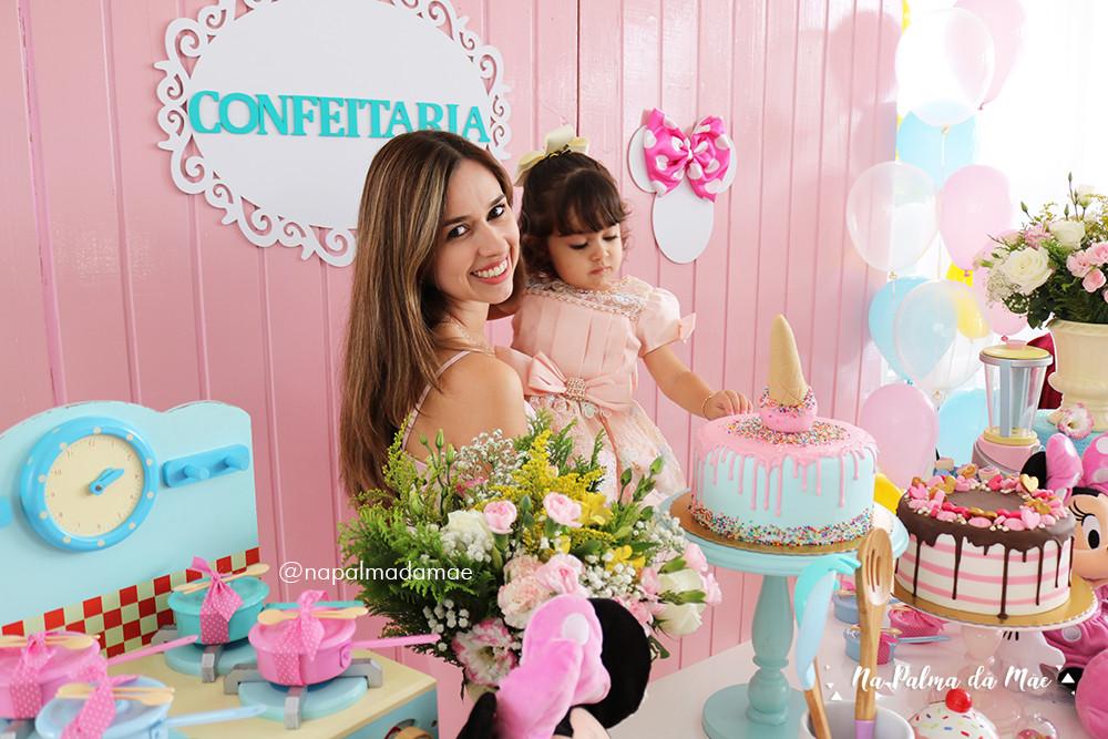 Festa Tema Confeitaria Minnie Rosa Candy Colors