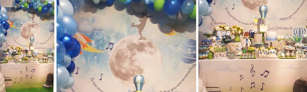 Mesa Decorada Balão Azul