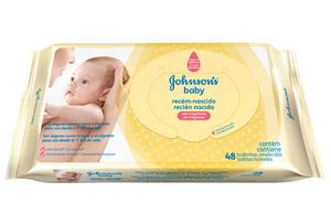 Opinião de Mãe Lenço Umedecido Johnson's Recém Nascido