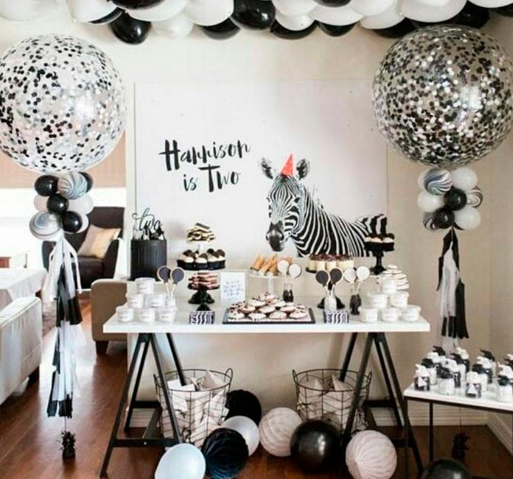 Festa Zebra Monocromatica