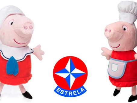 Lançamentos Pelúcia Peppa Pig - Estrela