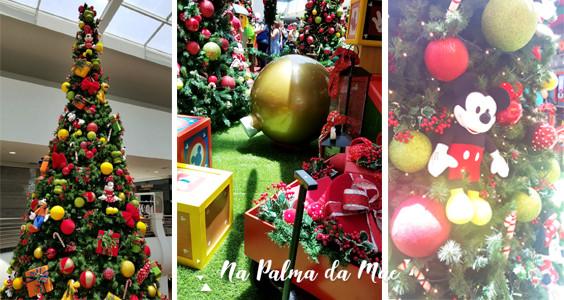 Decoração de Natal Mickey Mooca Plaza Shopping