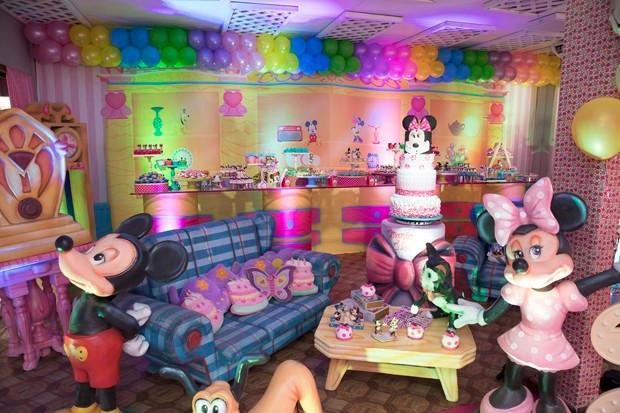 Decoração Festa da Minnie Maria Flor