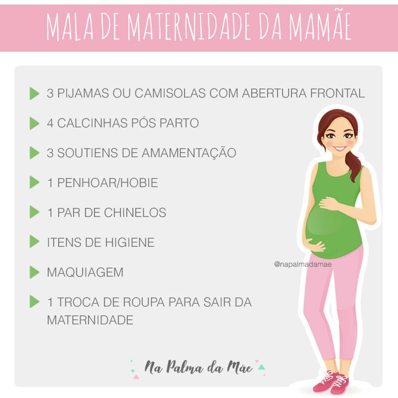 Lista da Mala de Maternidade da Mamãe