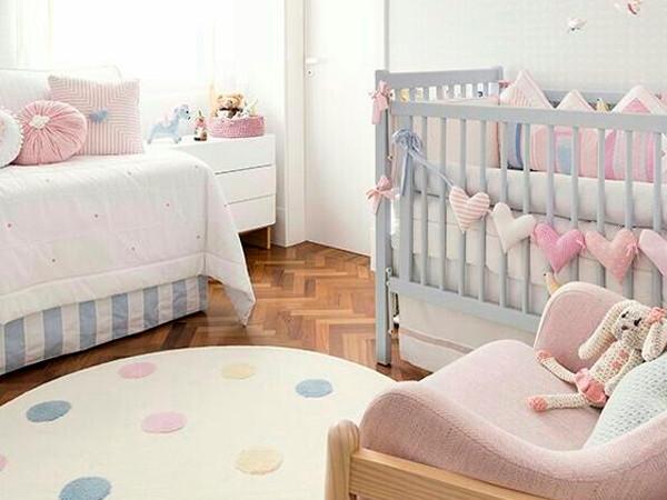 Quarto de Bebê Moderno Menina Delicado