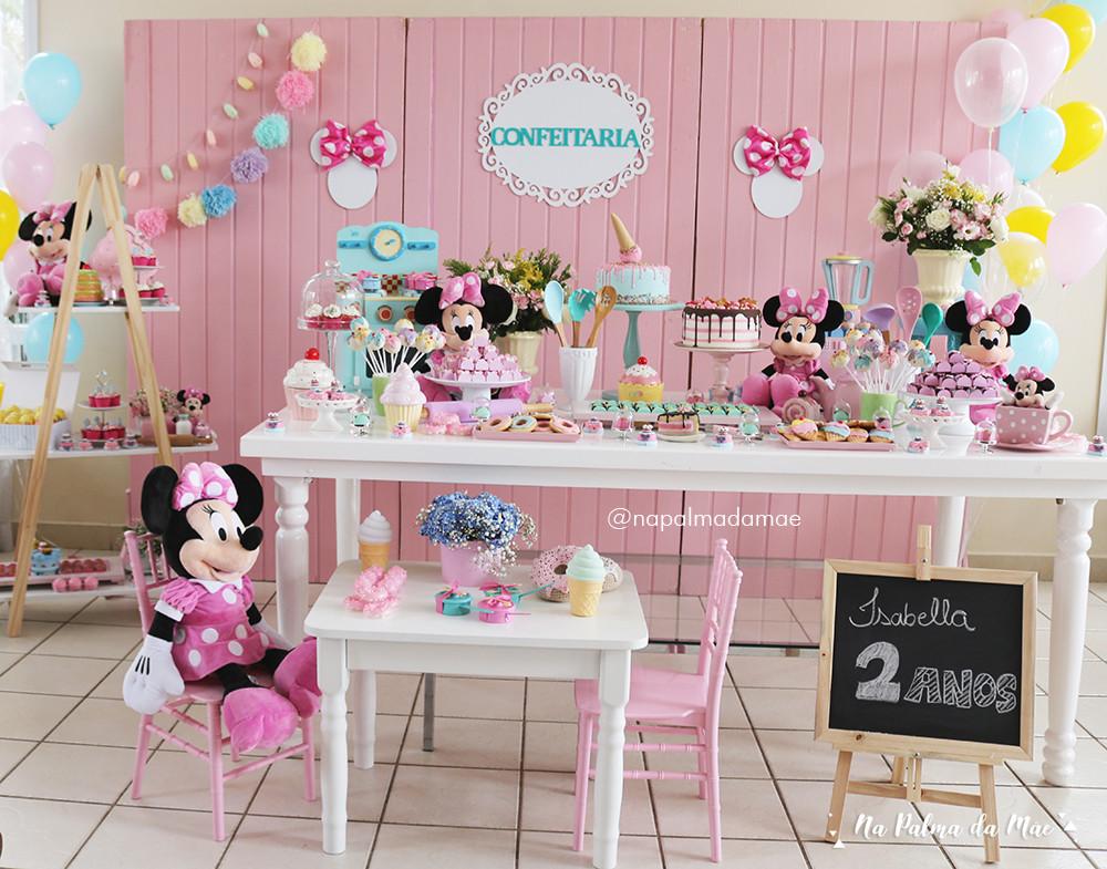 Decoração Festa Confeitaria da Minnie