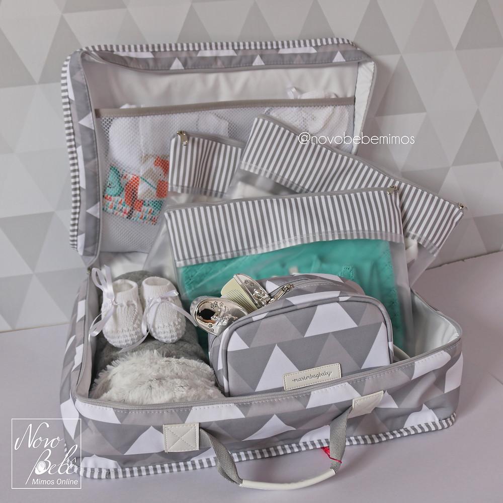 Mala de Maternidade Nórdica Cinza Masterbag Baby