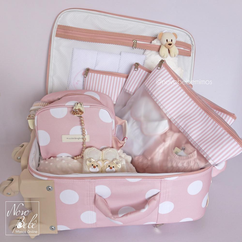 Coleção Bubbles Rosa - Mala de Rodinha Masterbag Baby