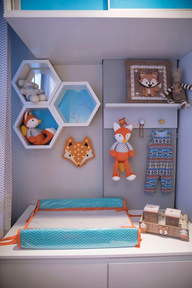 Decoração de quarto de Bebê Raposa filho Sheron Menezzes