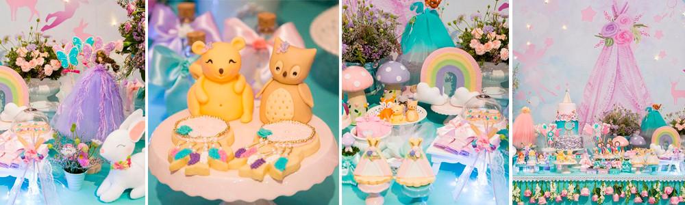 Decoração Festa Infantil Fadas e Reino Encantado