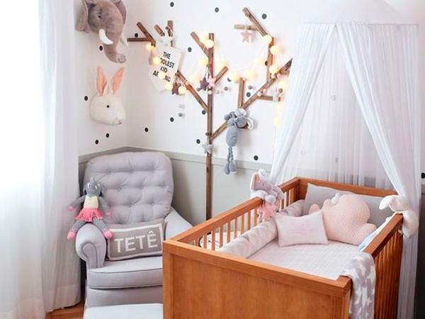 Quarto do Bebê Estilo Nordico Escandinavo