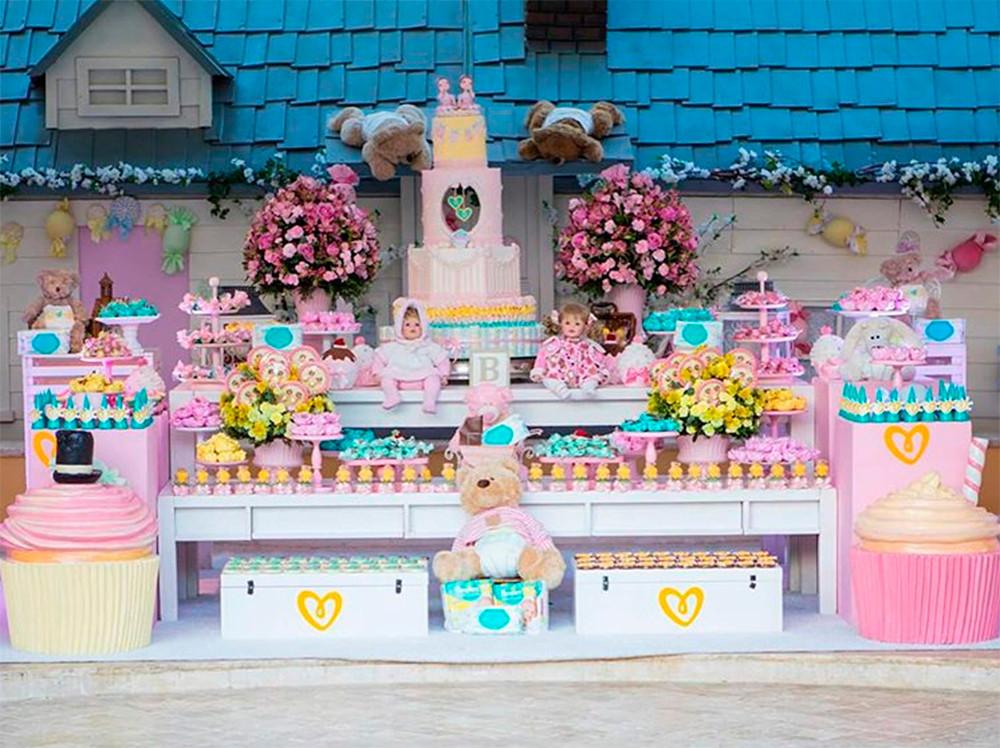 Decoração Chá de Bebê Ivete Sangalo Bonecas Ursos e Doces