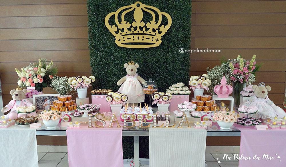 Decoração Chá de Bebê Ursinha Princesa