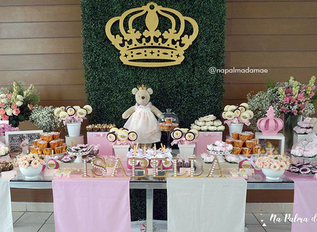 Chá de Bebê - Tema Ursinha Princesa
