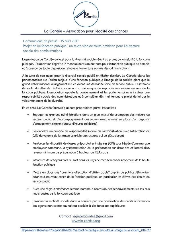 CP_Projet_de_loi_fonction_publique_LaCor