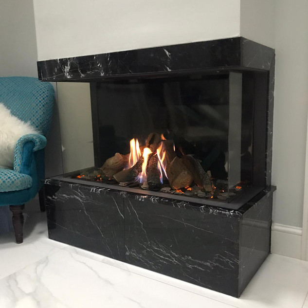 Summum 100 3-sided balanced flue gas fir