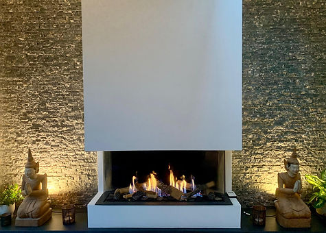 Trisore 95 gas fire with logs - complete