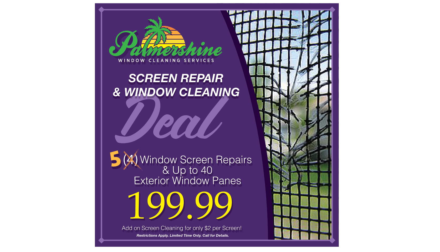 Screen Repair and Window Cleaning Deal