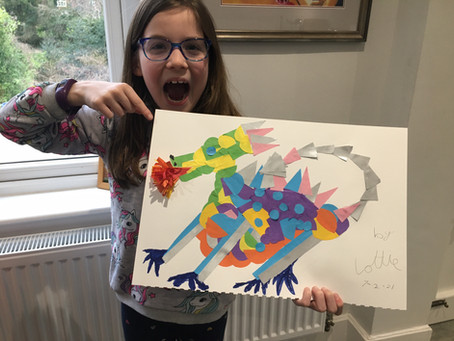 Lottie's Collage Dragon (3B)