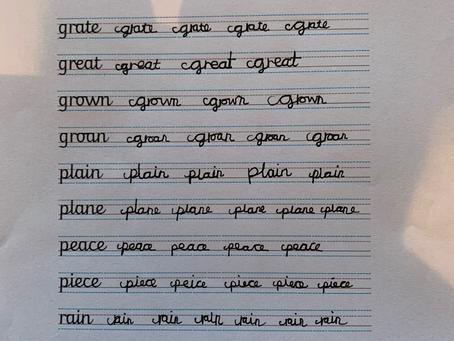 Xavier's Handwriting Practise (3B)