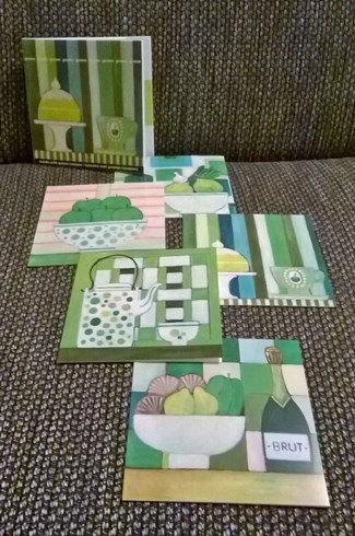 Kaarten met recepten: 'Groen'; 2 x 5 motieven