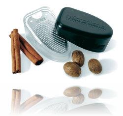 Rasp 'Microplane' (incl. opvangbakje) voor specerijen/kruiden