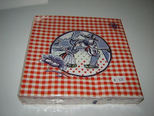 Servetten (papier) 'boer en boerin'; 33 x 33 cm