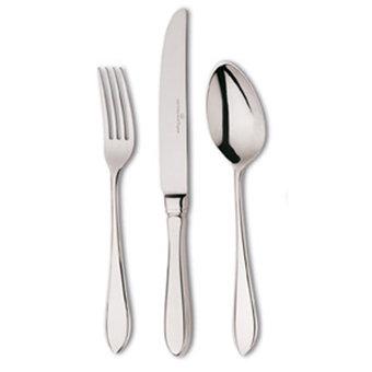 Puntfilet tafelcouvert r.v.s. (mes; vork; lepel) showroommodel