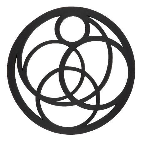Pannenonderzetter 'Zone' (siliconen) cirkels; zwart