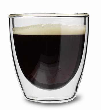 Dubbelwandig koffie-/senseoglas 'Double Feeling'; 0;2 l.