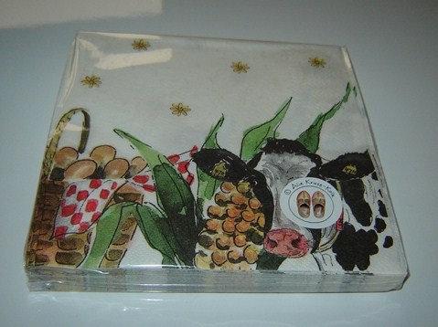 Servetten (papier) 'Landleven'; 33 x 33 cm