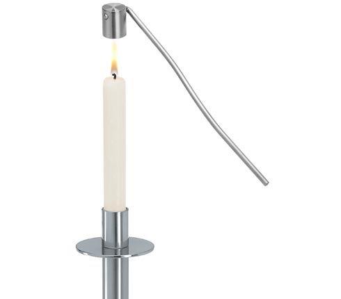 Kaarsendover 'Blomus' (mat edelstaal); 26 cm