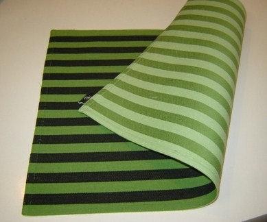 Placemat 'Zone' katoen (groen/zwart; 2 kanten); 48 x 33 cm