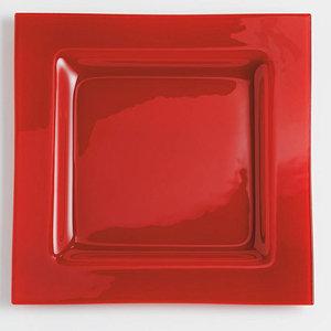 Mondo' bord rood (glas); 30 cm