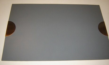 Placemat 'Zone' (siliconen/mat r.v.s.) grijs; 44;5 x 29 cm