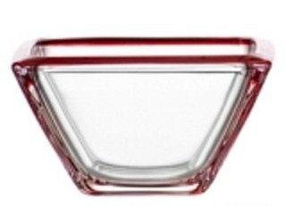 Corner schaal klein rood; 12;5 x 12;5 x 7 h. cm