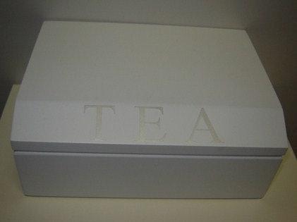 Theedoos 'tea' wit; 6 vaks