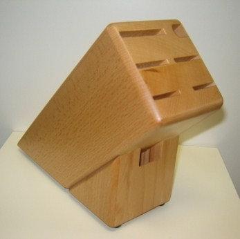 Messenblok hout (voor 7 onderdelen)