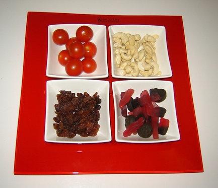 5-delige serveerschalenset; rood