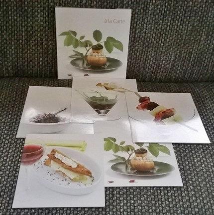 Kaarten met recepten: 'a la Carte'; 2 x 5 motieven