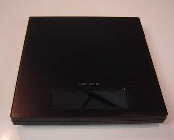 Digitale weegschaal vierkant; zwart (merk: Salter)