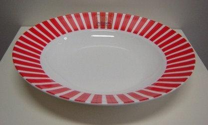 Allegro rood: diep bord 23 cm