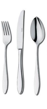 Vita tafelcouvert (mes; vork en lepel); showroommodel