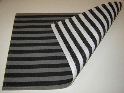 Placemat 'Zone' katoen (grijs/wit/zwart; 2 kanten); 48 x 33 cm